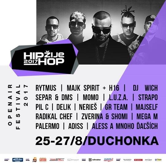 HIP HOP ŽIJE 25 - 27. 8. 2017 DUCHONKA