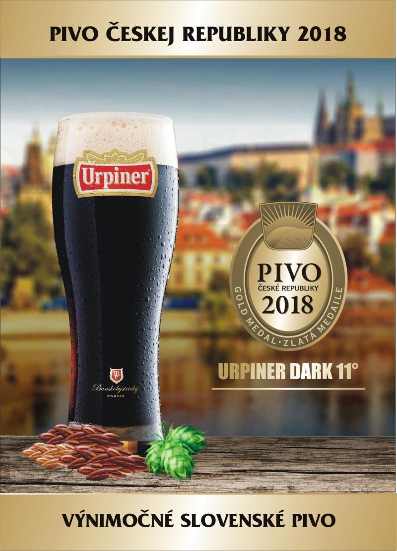 URPINER DARK 11° - PIVO ČESKEJ REPUBLIKY 2018